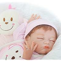 Sleeping Girl Reborn新生児赤ちゃん人形フルボディシリコン20インチビニールLifelike Kids Toys with Magneticおしゃぶり