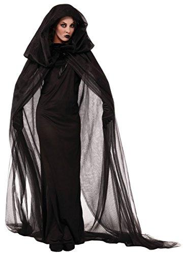 魔女 死神 マント コスチューム ブラック レディース フリーサイズ