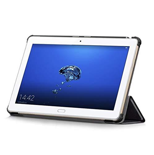 『Huawei MediaPad M3 Lite 10 wp ケース TopACE docomo dtab d-01K 超薄型 スマートケース スタンド機能付き 高級PU レザーケース Huawei 10.1インチ MediaPad M3 Lite 10 wp タブレット対応 (ブラック)』の3枚目の画像