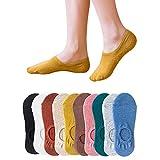 脱げない フットカバー パンプスソックス 10足セット マルチカラー 10色 靴下 ソックス レディース 浅履きタイプ 360°滑り止め color10