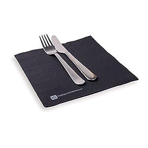 luxenap Micropoint 2プライ使い捨てナプキン赤で16x 16インチ50カウント 1800 count ブラック RWA0120