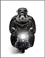【FOX REPUBLIC】【バイクに乗るパンダ】 白光沢紙(フレーム無し)A2サイズ