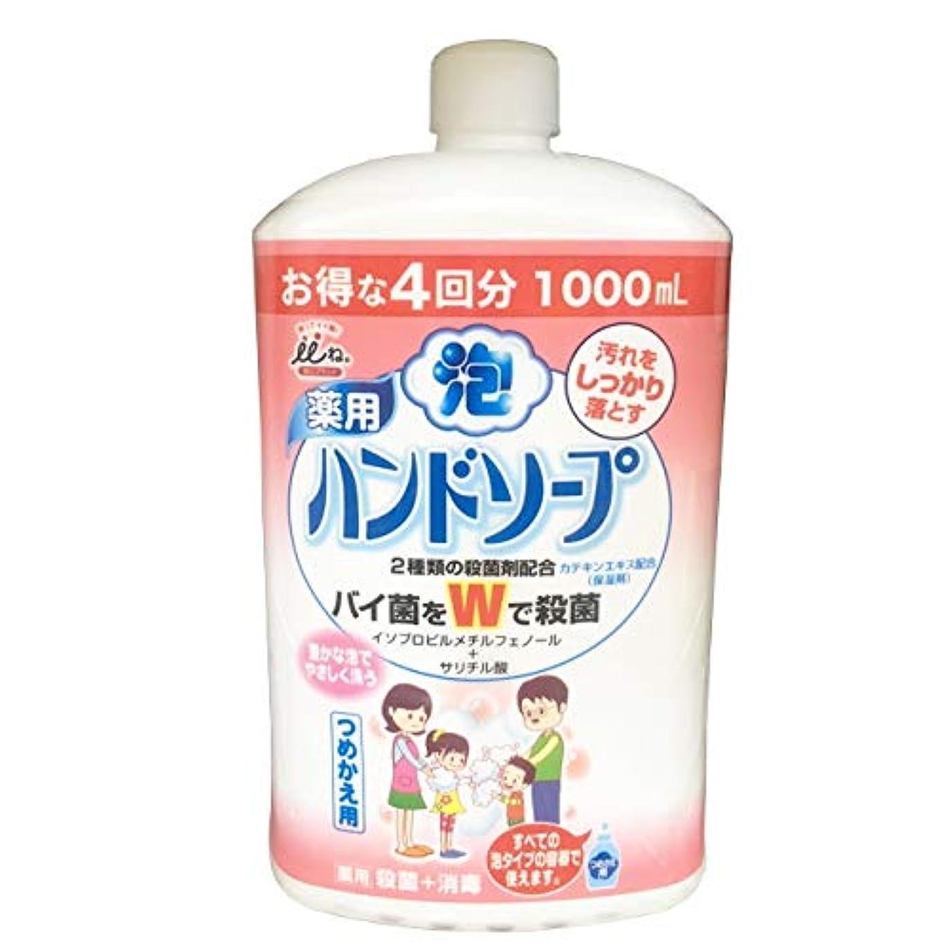 忘れる右石鹸いいね。W殺菌泡ハンドソープ詰替 せっけん 1000ML