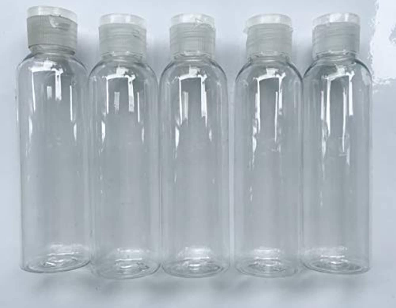 鹿換気キャンベラ旅行用 透明詰め替え容器150ml (クリア)携帯用トラベルボトル5本セット/シャンプー、化粧水、ローション、乳液などの基礎化粧品や調味料入れに