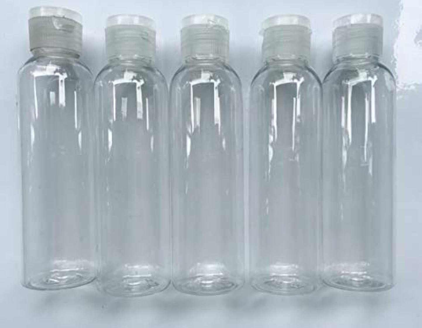 メロンジュニア本会議旅行用 透明詰め替え容器150ml (クリア)携帯用トラベルボトル5本セット/シャンプー、化粧水、ローション、乳液などの基礎化粧品や調味料入れに
