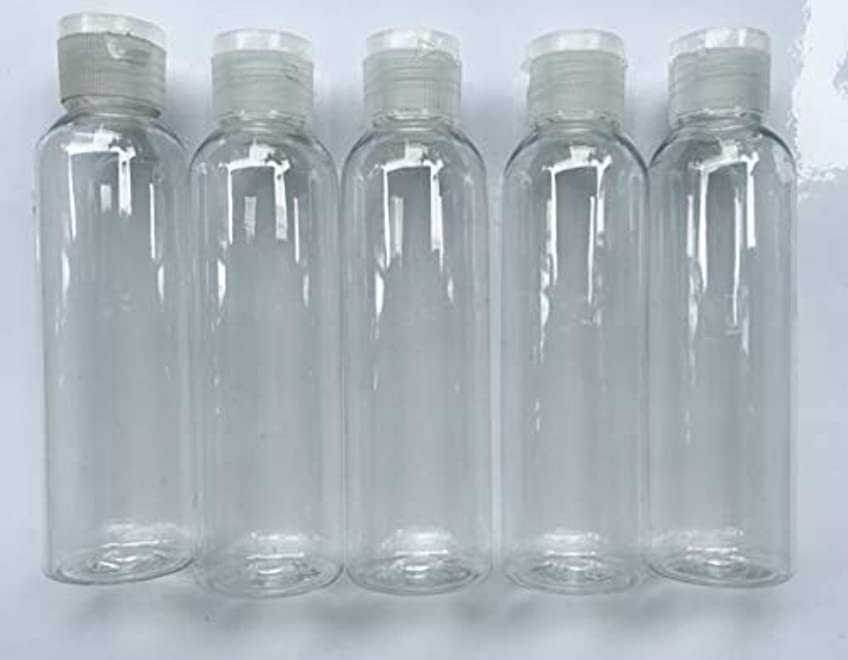 第二シソーラスくつろぐ旅行用 透明詰め替え容器150ml (クリア)携帯用トラベルボトル5本セット/シャンプー、化粧水、ローション、乳液などの基礎化粧品や調味料入れに