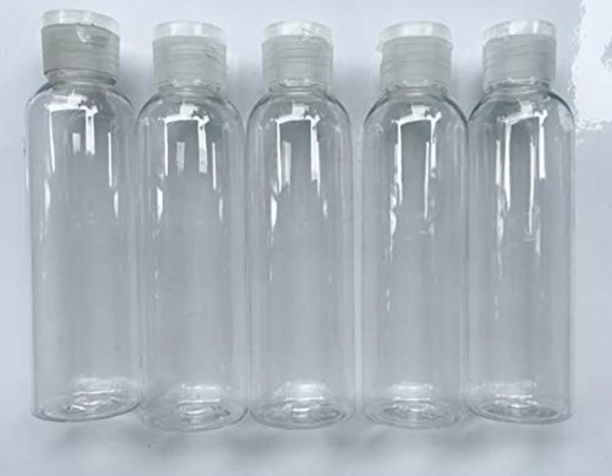花に水をやる世界記録のギネスブック首相旅行用 透明詰め替え容器150ml (クリア)携帯用トラベルボトル5本セット/シャンプー、化粧水、ローション、乳液などの基礎化粧品や調味料入れに