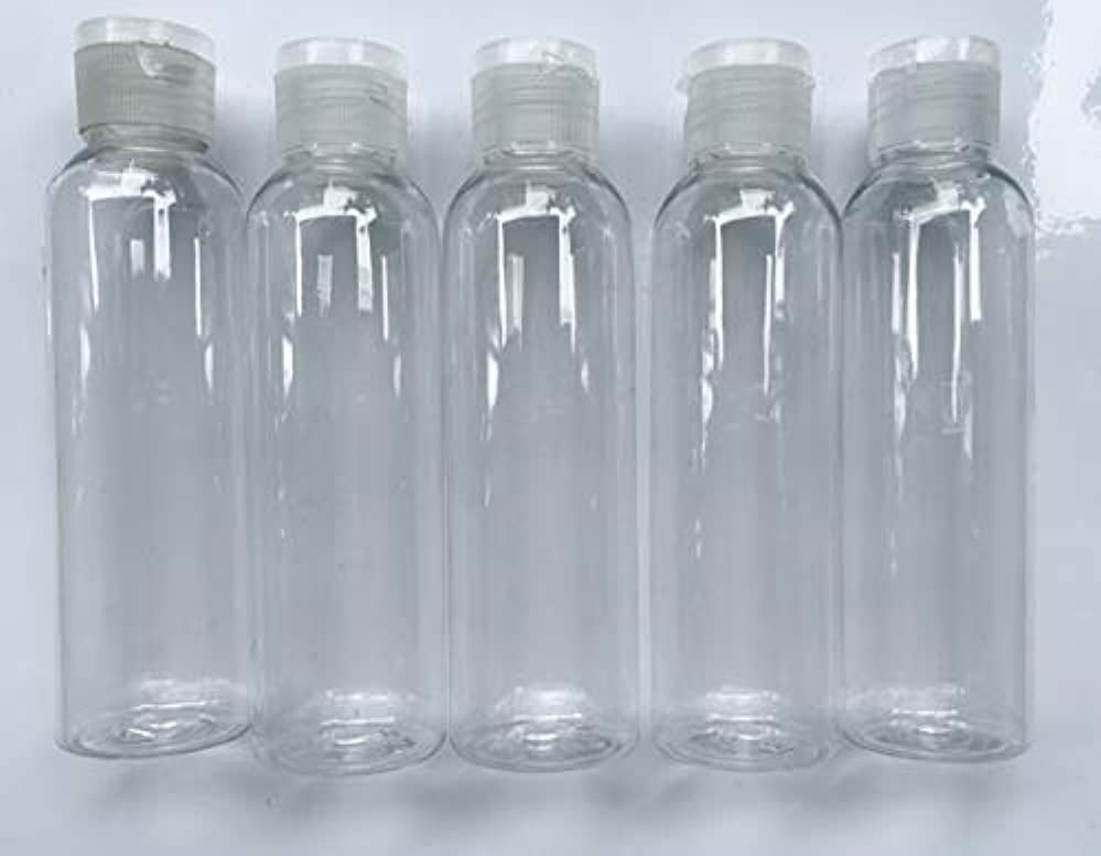 打ち負かす大胆不敵宣教師旅行用 透明詰め替え容器150ml (クリア)携帯用トラベルボトル5本セット/シャンプー、化粧水、ローション、乳液などの基礎化粧品や調味料入れに