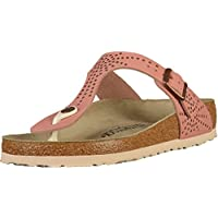 Birkenstock Womens Gizeh Nubuck Leather Thong Sandals Crafted Rivets II