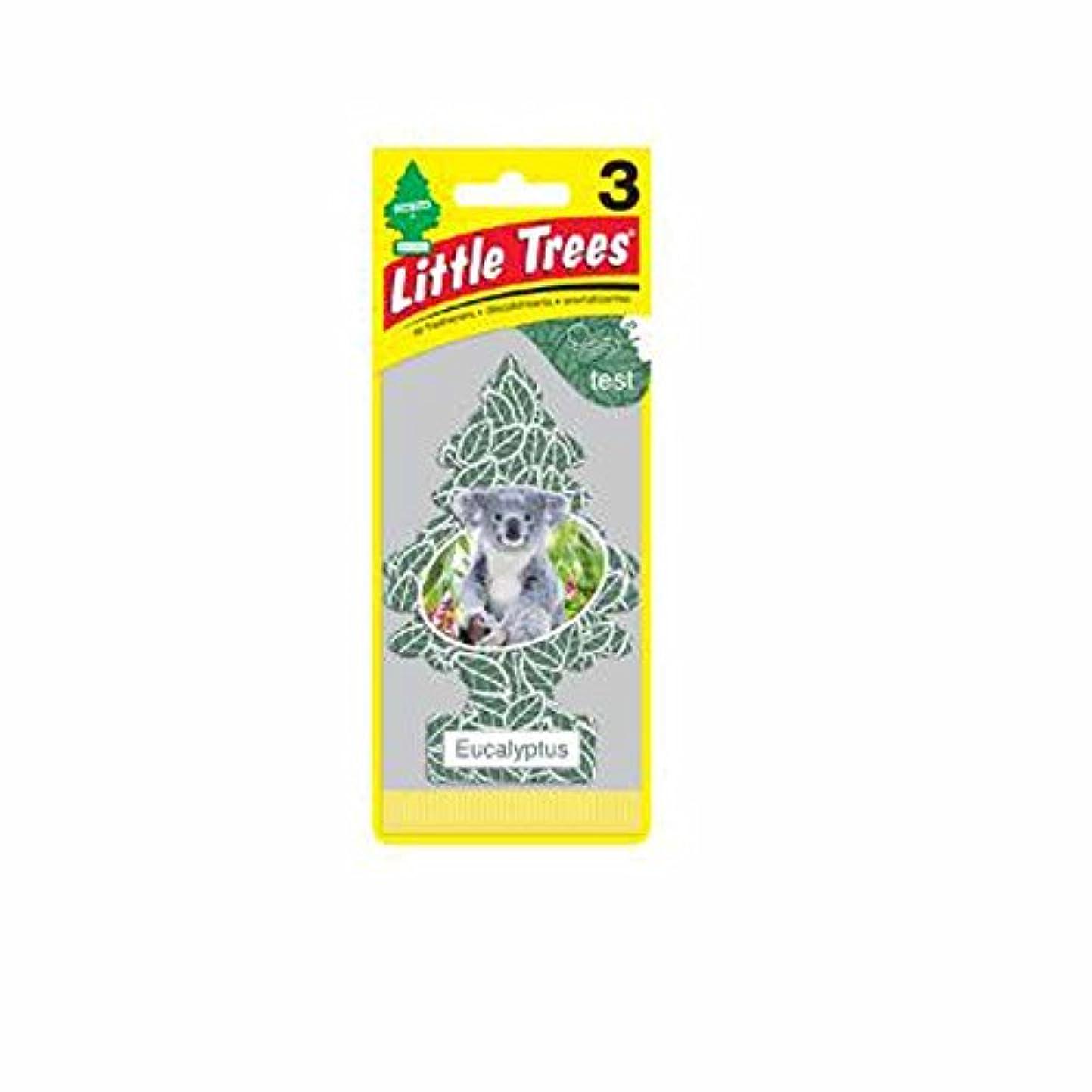もう一度移行する転倒Little Trees 吊下げタイプ エアーフレッシュナー eucalyptus(ユーカリ) 3枚セット(3P) U3S-37365