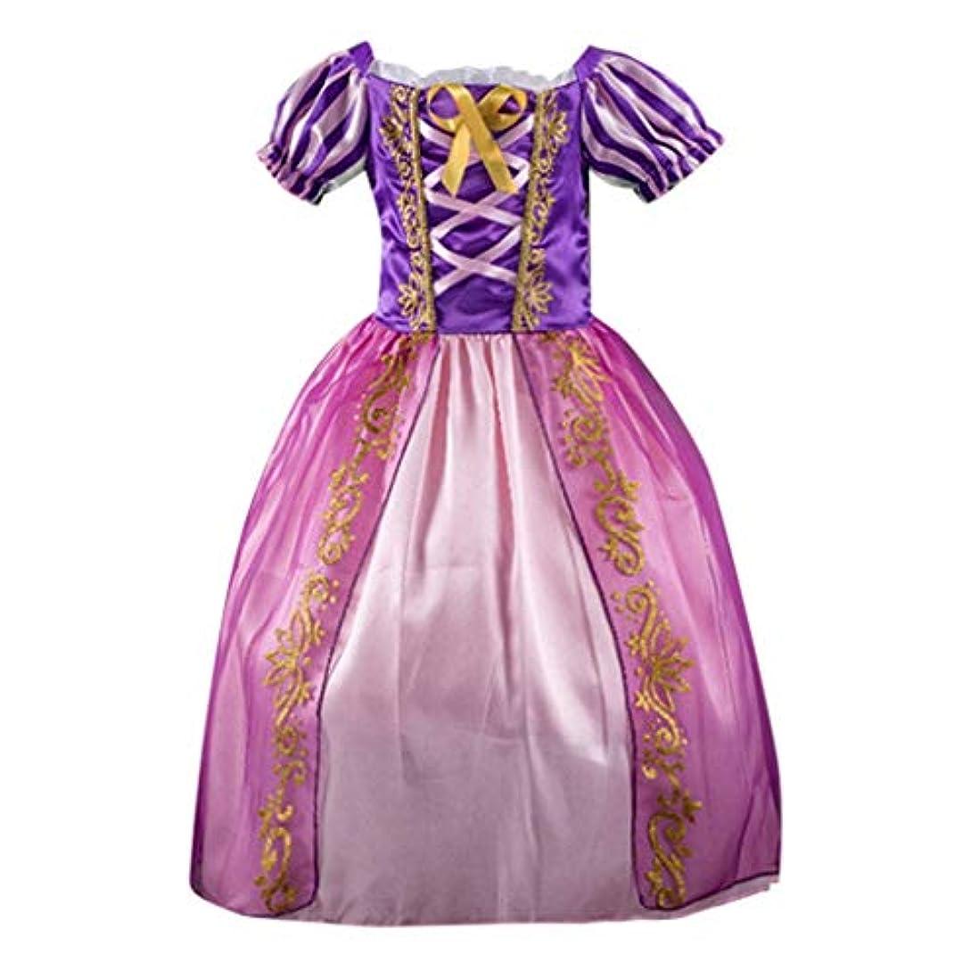 コピー緯度タイヤワンピース プリンセス こども 短袖 普段着 ストラップ ハロウィン ドレス 華やか TUTU 子供用 ダンス衣装 チュチュスカート キッズキラキラ 学園祭 発表会 ベビー 舞台 コスチューム 演出 2-7歳 女の子