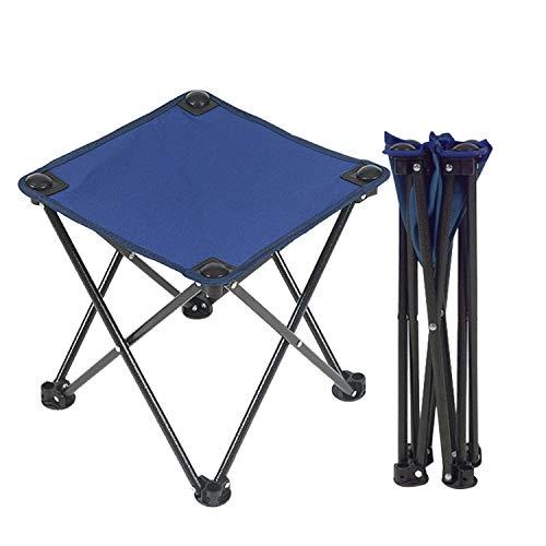 アウトドアチェア 折りたたみ椅子 コンパクト イス 持ち運び キャンプ用軽量 収納バッグ付き 折りたたみチェア レジャー 背もたれなし (ブルー)