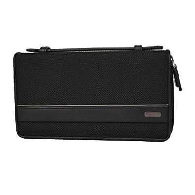 TUMI(トゥミ)DOUBLE ZIP AROUND CLUTCH BLACK 19382DO  個人情報保護ポケット搭載 バリスティックナイロン レザー トゥミ ダブル ジップ アラウンド クラッチバッグ トラベル オーガナイザーマルチケース [並行輸入品]