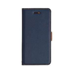 ラスタバナナ iPhone X ケース/カバー 手帳型 +COLOR 衝撃吸収 薄型 サイドマグネット NV×BR アイフォン スマホケース 3347IP8A