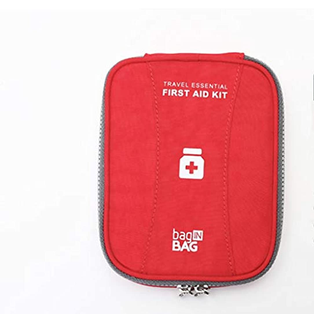 燃料ほぼドナウ川First aid kit ミニ薬箱ポータブル救急箱家庭用医療キット薬キット三色オプション XBCDP (Color : Red)