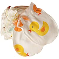 Baby Gloves Kids Gloves Baby Boy/Girl Cute Cartoon Gloves Newborn Scratch Mittens Gift for Baby Boy/Girl (Yellow)1 Pair