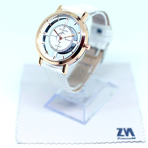 ZooooM ユニーク デザイン 文字盤 アナログ ウォッチ 腕 時計 ファッション アクセサリー おもしろ カジュアル メンズ レディース 男性 女性 男 女 兼 用 ( ホワイト ) ZM-WATCH566-WH