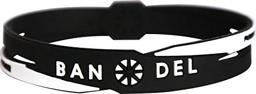 BANDEL(バンデル) クロスブレスレット(ブラック×ホワイト) Mサイズ:17.5cm 2017年モデル