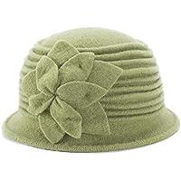 Lawliet Womens 1920s Look 100% Wool Beret Beanie Cloche Bucket Winter Hat A543