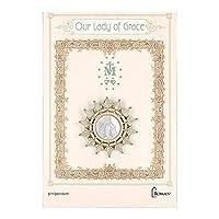 Roman Our Lady of Grace ゴールド、ライトグリーンラウンドピン、1.5インチ