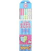 トンボ鉛筆 鉛筆 ippo! かきかた 2B プリントW 1ダース KB-KRW03-2B