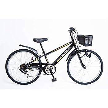 21Technology 24インチ 子供用マウンテンバイク kd246 6段ギア付き (ブラック24)