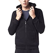 LAPASA Men's Hoodie Sweatshirt Fleece Lining Sportswear Plain Hooded Jacket Zip up Hoody w Drawstring M20