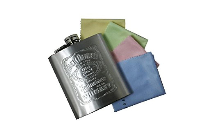 Jack Daniel's ジャックダニエルズ ステンレス製 携帯用 スキットル [並行輸入品]