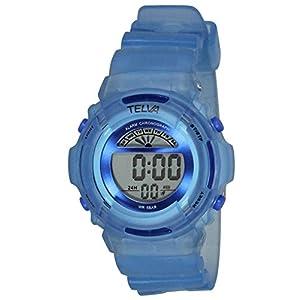 [クレファー]CREPHA 腕時計 デジタル ウレタンベルト 5気圧 防水 ブルー TE-D067-BL ボーイズ