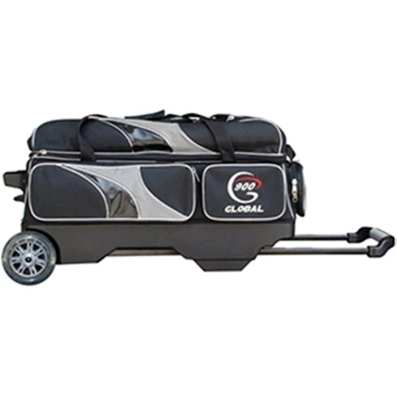 900グローバルデラックス3ボールローラーBowling bag-ブラック/シルバー