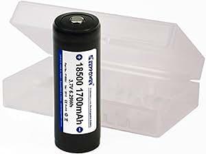 【日本製セル 単四x3本互換 KEEPPOWER 18500 / 1700mAh リチウムイオンバッテリー】 電池ケース付属 パナソニック製Cell+SEIKO製PCB(保護)回路搭載 リチウムイオンバッテリー■