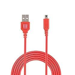 任天堂3DS USB充電用ケーブルは任天堂3DS, 3DS XL, 2DS, DSi, DSi XL (1.2m 4ft, 赤)向けの、充電しながらゲームをプレイできます