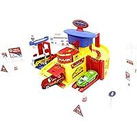 Little Treasuresおもちゃ、駐車場タワーCar Parking Garage Playセット