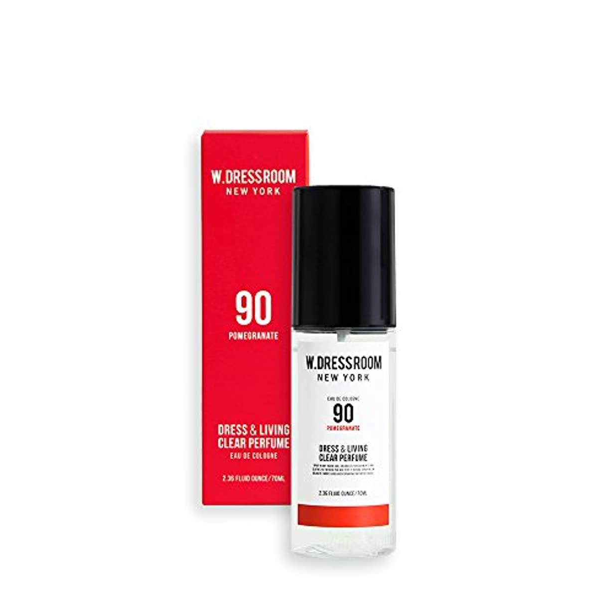 各ヨーロッパ医学W.DRESSROOM Dress & Living Clear Perfume 70ml/ダブルドレスルーム ドレス&リビング クリア パフューム 70ml (#No.90 Pomegranate) [並行輸入品]