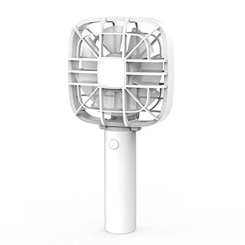 O-Buddy ミニ扇風機 強風 USB 充電式 手持ち式ファン 折り畳み式 卓上置き両用 携帯扇風機 2段階風量調節 熱中症対策