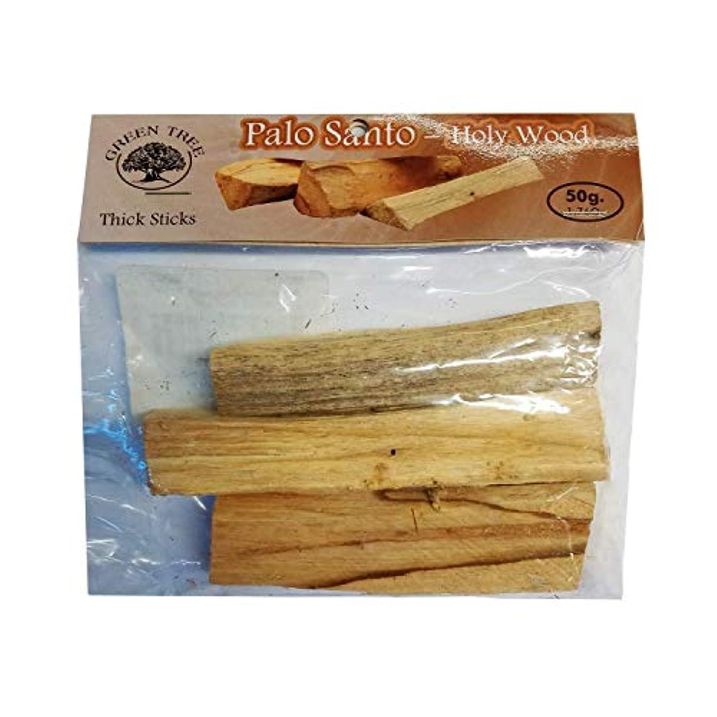 壮大にはまってメジャーグリーンツリー50グラムのバッグPalo Santo Holy Wood Sticks