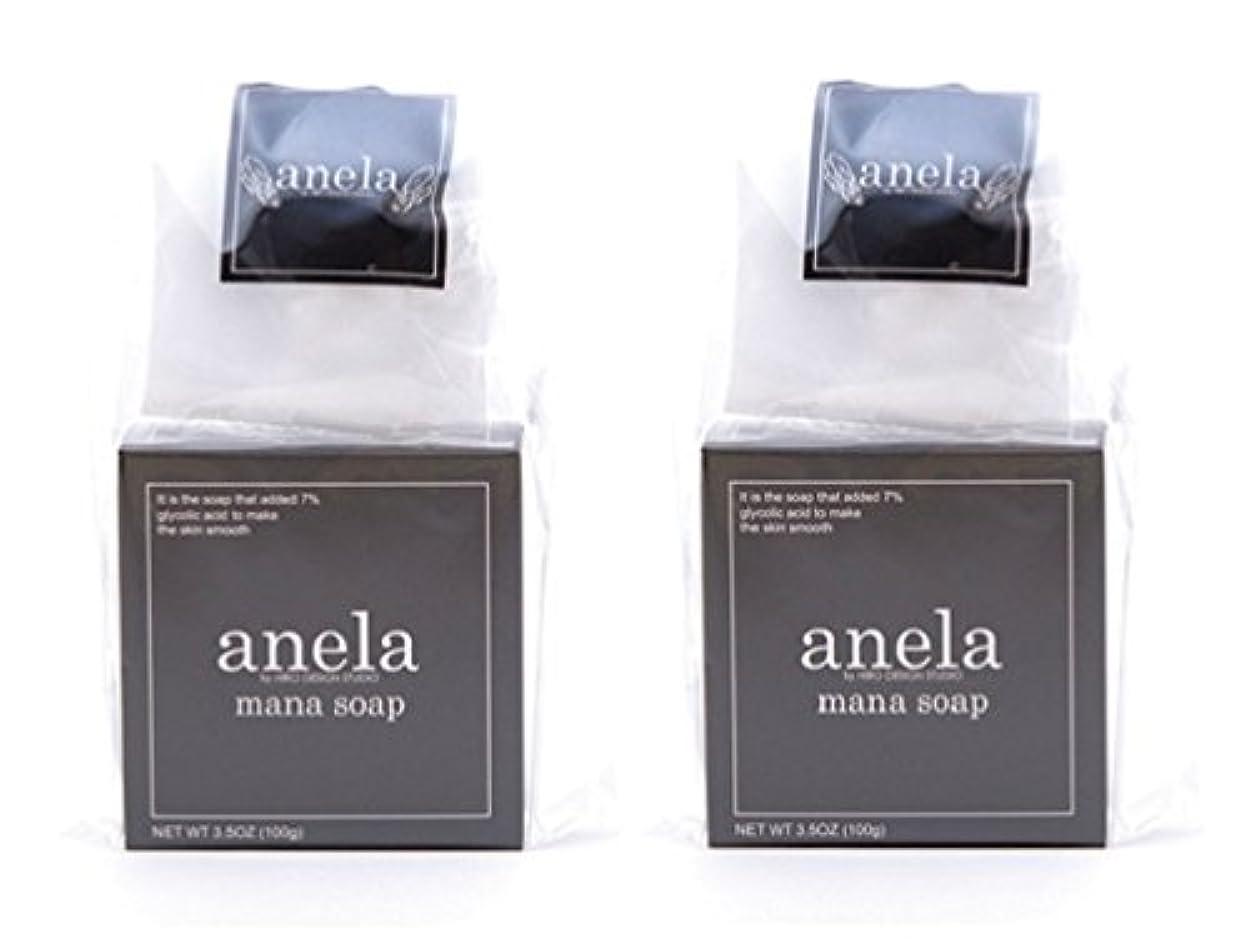 鎮静剤確保する淡いアネラ マナソープ 100g×2個セット