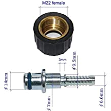 XZT Pressure washer hose fittings M22 female/14 Adapter Coupling Fittings for Karcher Most Brand machine : for DN6(-04) Hose