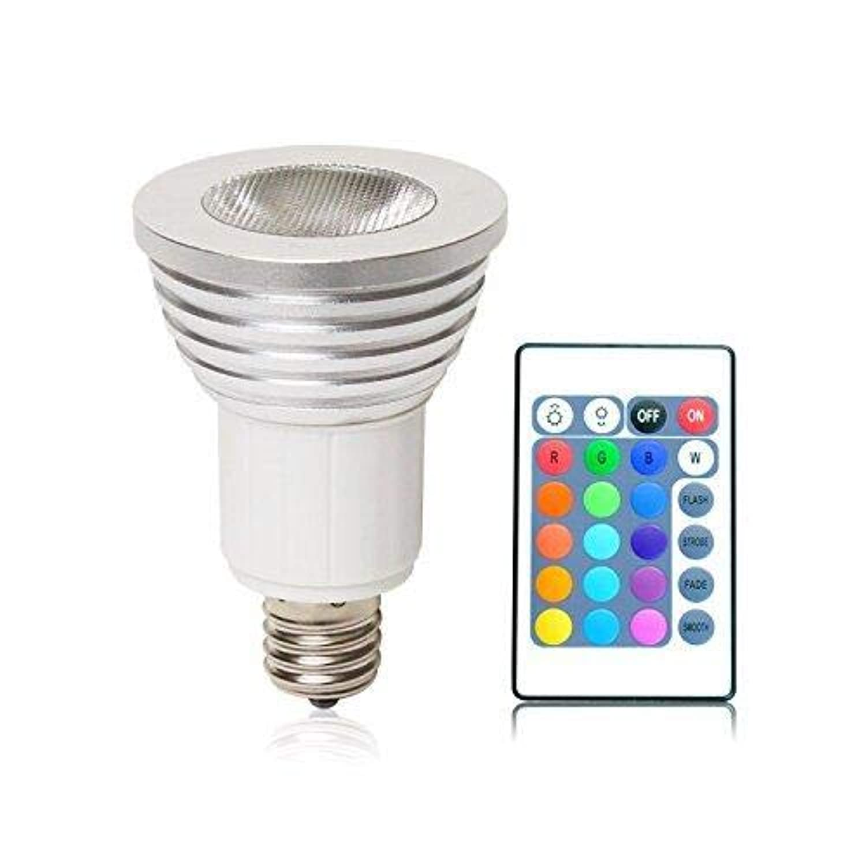 LED電球 E17 スポットライト RGB 3W リモコン付 マルチカラー ハロゲンランプ led電球 ハロゲン電球 スポットライト (E17)