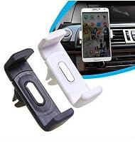 【ななみ】 簡単取付 スマートフォン ホン スマホ iphone 6 6s plus 5S 5C 幅85mmまでのスマホ全種類を固定可能!!カーエアコン吹き出し口用スマートホンホルダー 360度回転可 白色 PL保険加入済み