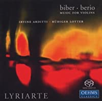 Biber: Violin Sonatas Nos 3, 5 & 6, Berio: Excerpts (Hybrid SACD) by Lyiarte (2013-08-05)
