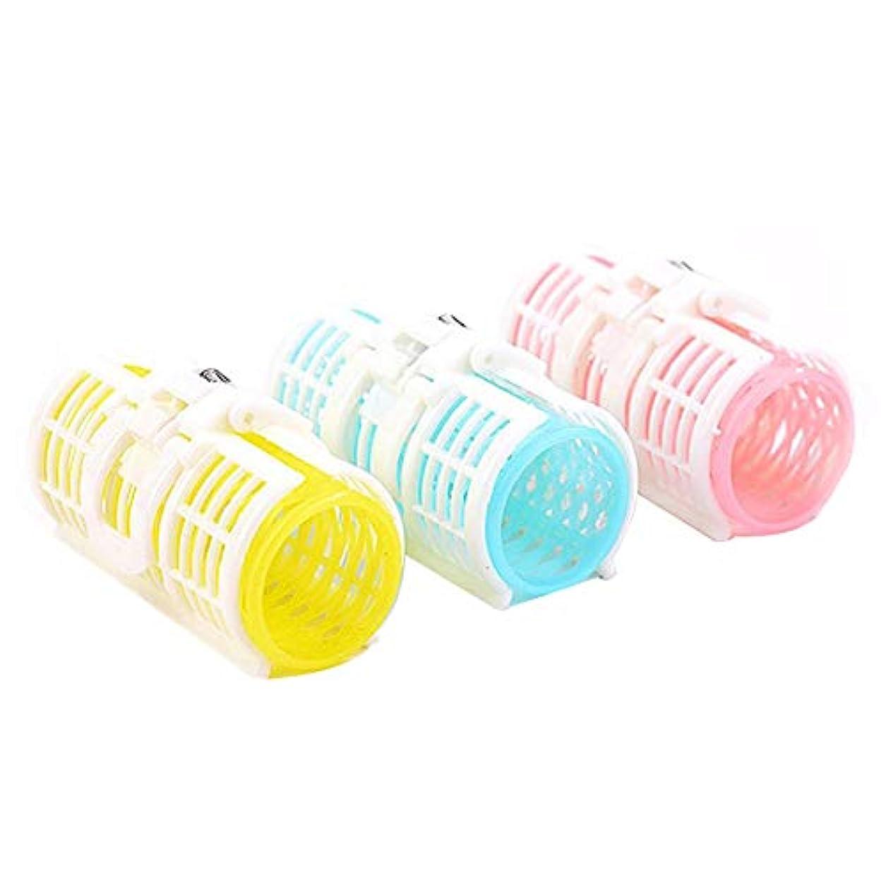 雑品有能なジュース小さなプラスチック製のクリップヘアケア製品の持続可能な利用3の巻き毛カールツールロール爆発