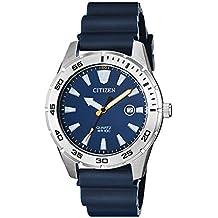 Citizen Men's Stainless Steel Japanese-Quartz Polyurethane Strap, Blue, 22 Casual Watch (Model: BI1041-22L