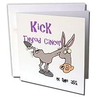 ドゥーニデザインズ意識リボンデザイン–Kick Assで甲状腺がん意識リボン原因デザイン–グリーティングカード Individual Greeting Card