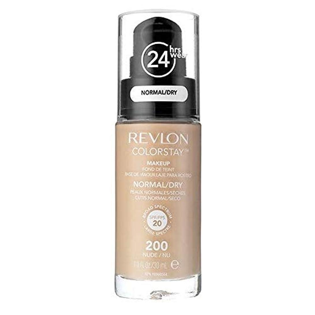 スーパーマーケット拡張不良品[Revlon ] レブロンカラーステイ基盤ノルム/ドライヌード30ミリリットル - Revlon Color Stay Foundation Norm/Dry Nude 30ml [並行輸入品]