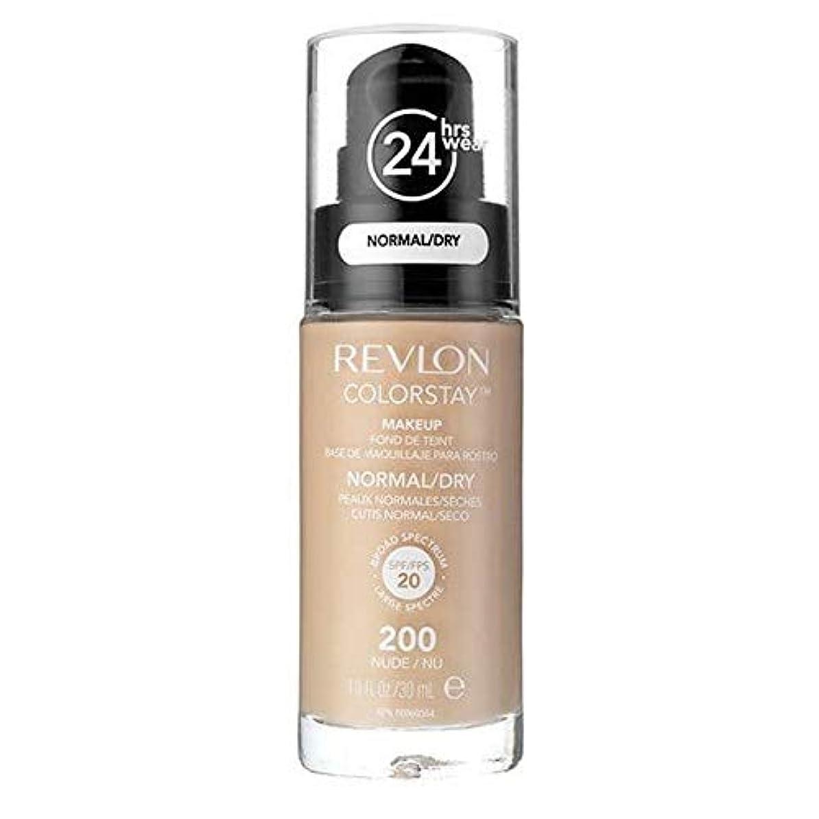 お酒ドロップ透ける[Revlon ] レブロンカラーステイ基盤ノルム/ドライヌード30ミリリットル - Revlon Color Stay Foundation Norm/Dry Nude 30ml [並行輸入品]