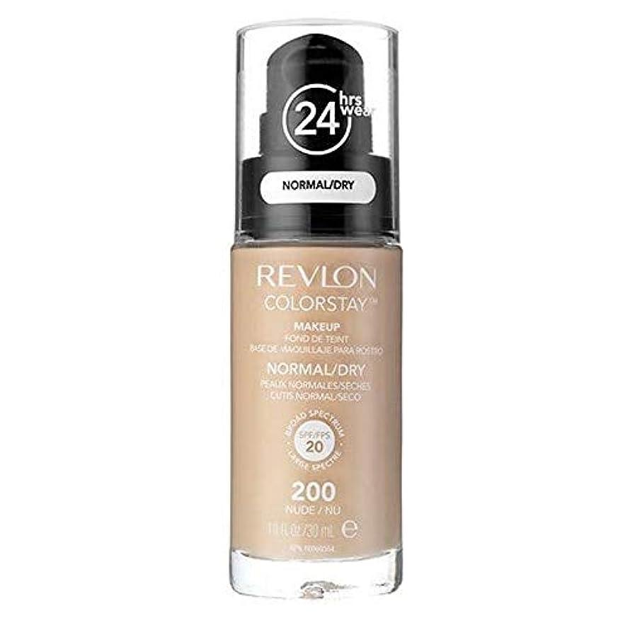 うま半島数字[Revlon ] レブロンカラーステイ基盤ノルム/ドライヌード30ミリリットル - Revlon Color Stay Foundation Norm/Dry Nude 30ml [並行輸入品]