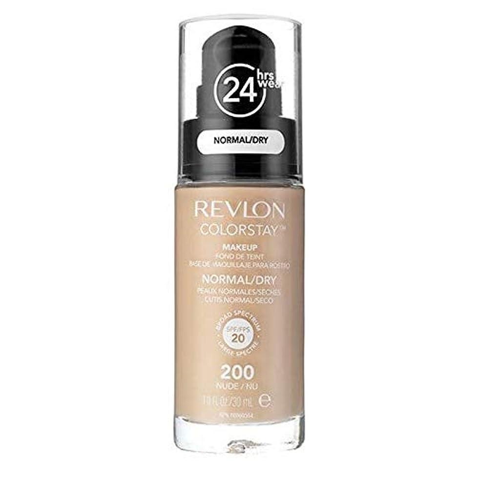 エンドテーブルソロソーセージ[Revlon ] レブロンカラーステイ基盤ノルム/ドライヌード30ミリリットル - Revlon Color Stay Foundation Norm/Dry Nude 30ml [並行輸入品]