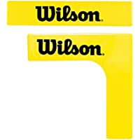 Wilson(ウイルソン) 簡易テニスコート作成用 マーキングライン(コーナー×4、直線×12) EZ COURT LINES (コートラインズ) WRZ2573 ES WRZ2573