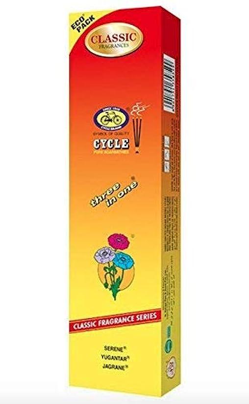 縞模様の無意味狂乱サイクル3 in 1 Incense Sticks Ecoパック100 – 1200 Sticks 1 Pack イエロー